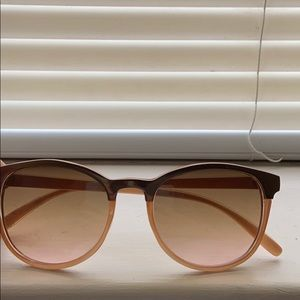 Rose Gold Ombré Sunglasses